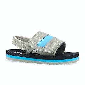 Sliders Niño Reef Little Ahi - Grey Blue