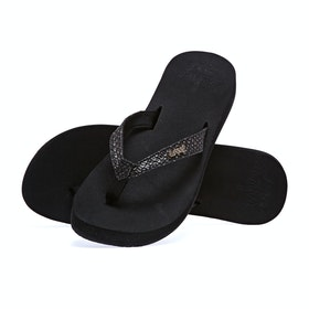 Reef Star Cushion Sassy Womens Sandals - Black Bronze
