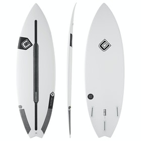 Clayton Reflex Spine-Tek Futures Thruster Surfboard - White