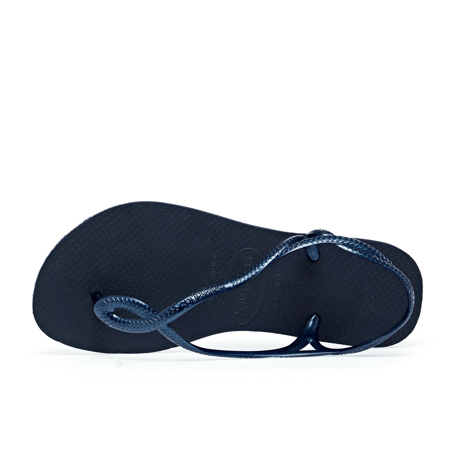 Havaianas Men`s Brazilian Flip Flops Surf Sandals Beige Navy Blue Sandal NWT