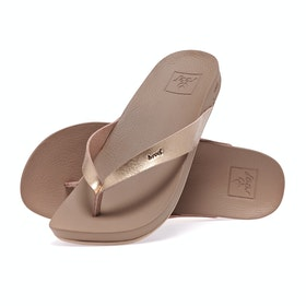 Reef Cushion Bounce Court Womens Sandals - Rose Gold