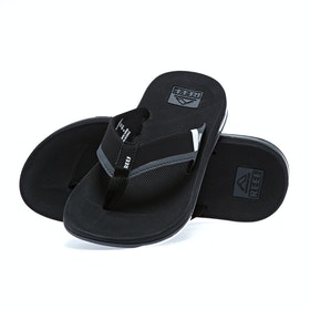 Reef Fanning Low Sandals - Black White