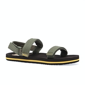 Reef Little Ahi Convertible Kids Sandals - Brown Olive