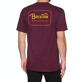 Brixton Grade Standard Short Sleeve T-Shirt - Burgundy Red