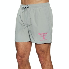 Barbour Beacon Logo Swim Shorts - Smoke