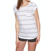 Animal Sea Stripes Womens Short Sleeve T-Shirt - White