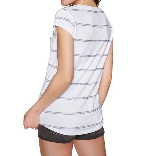 Animal Sea Stripes Womens Short Sleeve T-Shirt