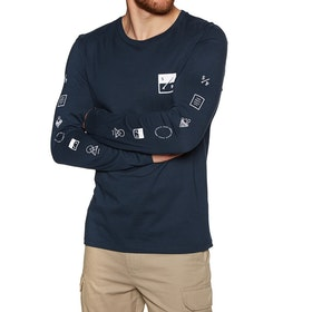 Surf Perimeters The Element Organic Long Sleeve T-Shirt - Navy