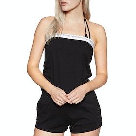 Calvin Klein Bandeau Romper Playsuit - PVH Black