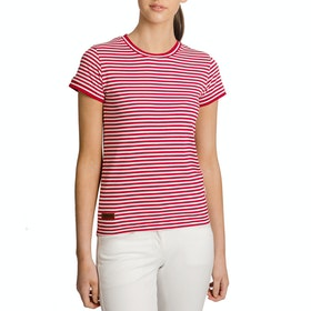 Horseware Polo Sammy Short Sleeve T-Shirt - Red/white