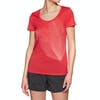 T-Shirt à Manche Courte Femme Icebreaker Tech Lite Scoop Plume - Ember