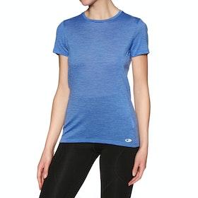 Icebreaker Amplify Low Crewe Womens Short Sleeve T-Shirt - Cove Heather