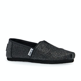 Toms Classic Alpargata Kids Slip On Shoes - Black Iridescent Glimmer