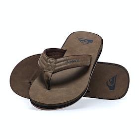 Quiksilver Carver Nubuck Sandals - Tan Solid