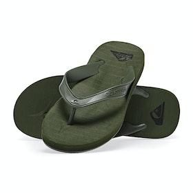 Quiksilver Carver Deluxe Sandals - Green Green Green