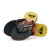 Quiksilver Molokai Fire Sandals - Black Yellow Red