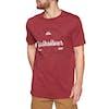 T-Shirt à Manche Courte Quiksilver Drop In Drop Out - Brick Red