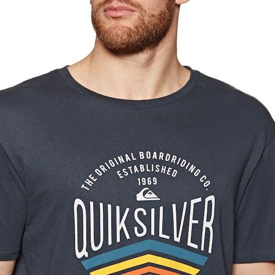 T-Shirt de Manga Curta Quiksilver Sunset Logo