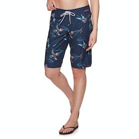 Animal Fian Womens Boardshorts - Mid Navy Blue