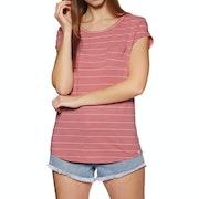T-Shirt de Manga Curta Senhora Animal Sea Stripes