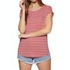 Animal Sea Stripes Womens Short Sleeve T-Shirt - Faded Rose Pink