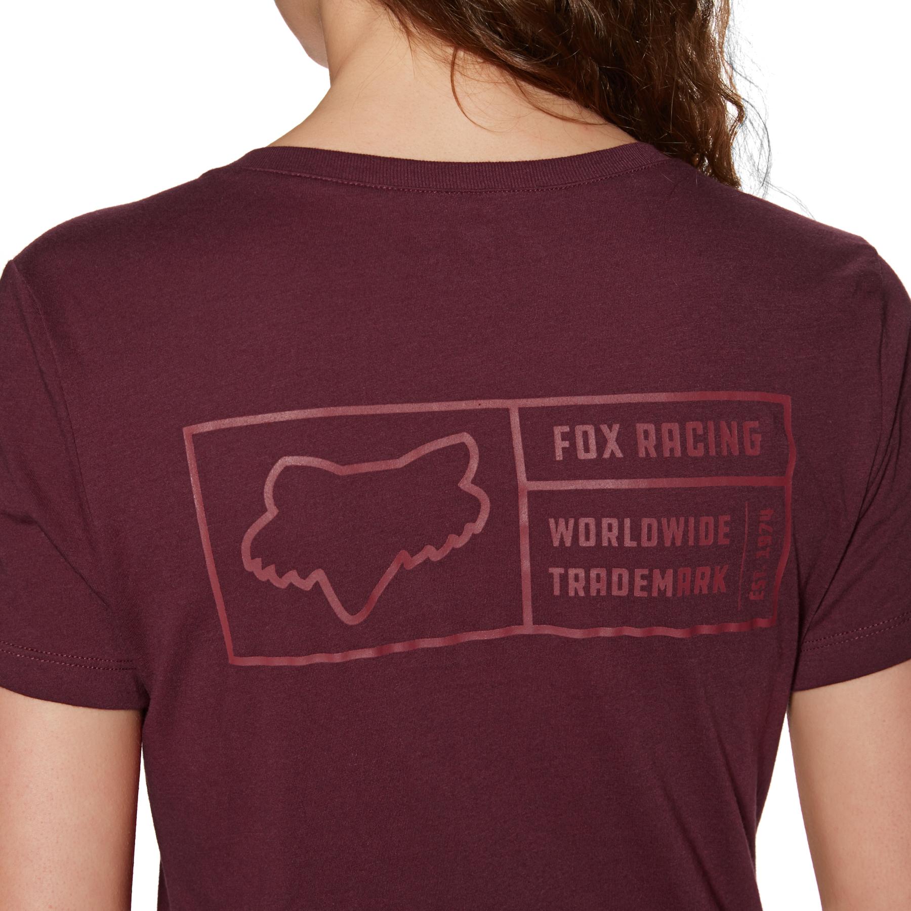 Fox Womens Tracker Short Sleeve V-Neck T-Shirt