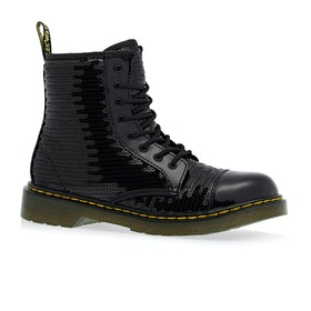 Dr Martens Junior 1460 Kids Boots - Black Sequins Patent Lamper