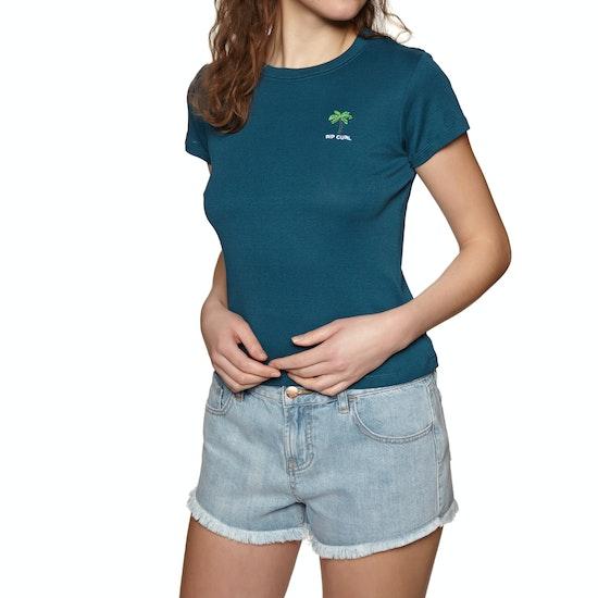 Rip Curl Revived Rib Womens Short Sleeve T-Shirt