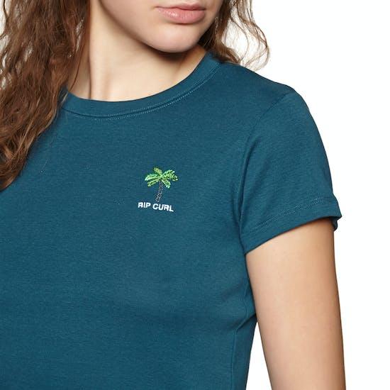 Rip Curl Revived Rib Ladies Short Sleeve T-Shirt