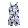 Joules Alexa Playsuit - Blue Large Spot And Stripe