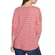 Animal Street Stripes Womens Long Sleeve T-Shirt
