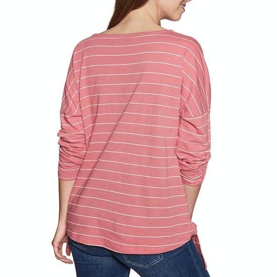 Animal Street Stripes Womens Long Sleeve T-Shirt