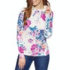 Joules Marlston Print Womens Pullover Hoody - Cream Floral