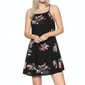 Roxy All About Shado Dress - Anthracite Flowee
