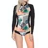 Roxy 1mm POP Surf Long-Sleeve Front-Zip Bikini-Cut Shorty Womens Wetsuit - Black