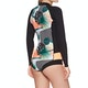 Roxy 1mm POP Surf Long-Sleeve Front-Zip Bikini-Cut Shorty , Våtdräkt Dam