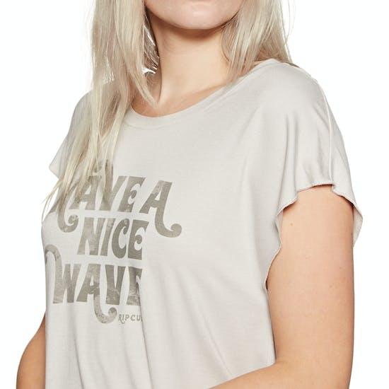 T-Shirt de Manga Curta Senhora Rip Curl Have A Nice Wave