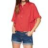 Billabong Find Me Womens Short Sleeve Shirt - Sunset Red