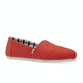 Toms Essential Canvas Womens Slip On Shoes - Cherry Tomato