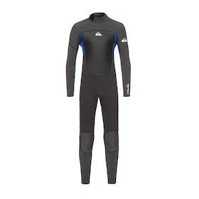 Combinaison de Surf Quiksilver Prologue 3/2mm Back-Zip - Jet Black Nite Blue