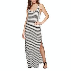 O'Neill Racerback Jersey Dress - White Aop W/ Black