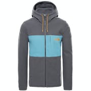 North Face Blocked Full Zip Hooded Fleece