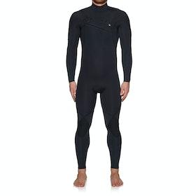 Quiksilver 4/3mm Highline Limited Monochrome Chest Zip Wetsuit - Black