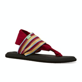 Sanuk Yoga Sling 2 Prints Womens Sandals - Sand Harbour Red