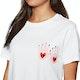 Element Love Hand Crop Womens Short Sleeve T-Shirt