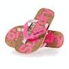 Sandales Femme Superdry Glitter Cork Flip Flop - Fluro Pink Eclipse Navy
