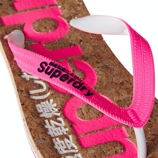 Sandales Femme Superdry Glitter Cork Flip Flop