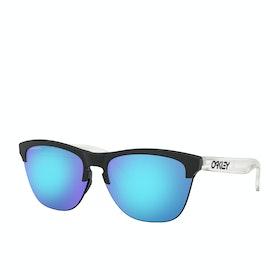 Oakley Frogskins Lite Sunglasses - Matte Black ~ Prizm Sapphire