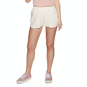 SWELL Geenie Ribbed Short Womens Shorts - White