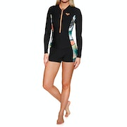 Roxy 1.5mm POP Surf Long Sleeve Front Zip Springsuit Womens ウェットスーツ